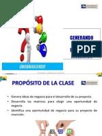GENERANDO IDEAS DE NEGOCIOS E INVERSIONES