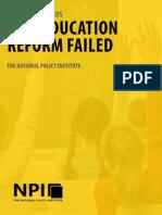 Why Education Reform Failed