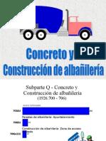 Concreto y Construcción de Albañilería