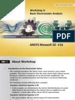 Maxwell v16 2D WS03 BasicElectrostaticAnalysis