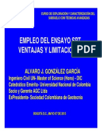Empleo del esnayo SPT Ventajas y Limitaciones