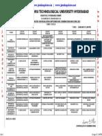 Btech 3-1 r09 Timetable