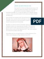 Biografía de Santa Rosc de Lima