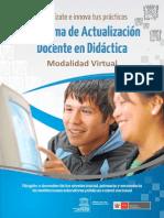PROGRAMA DE ACTUALIZACIÓN DOCENTE EN DIDÁCTICA