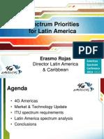 Erasmo Rojas Presentation -Spectrum Priorities for Latin America