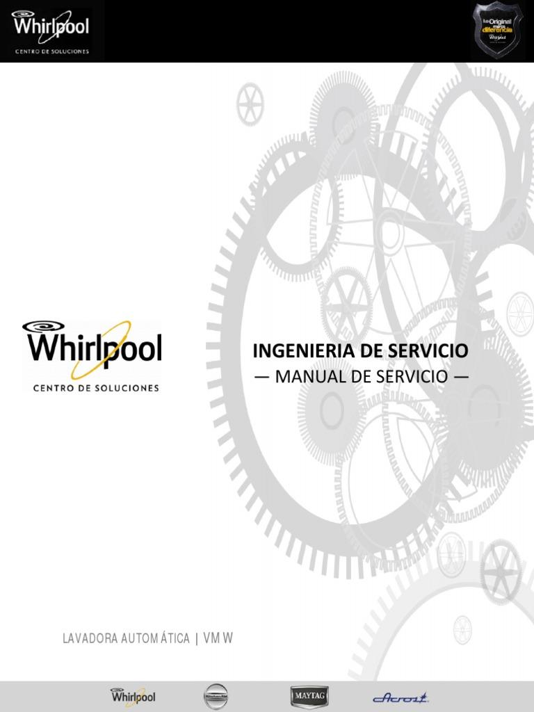 manual de servicio lavadora vmw espa ol rh scribd com manual de servicio lavadora whirlpool gratis manual de reparacion lavadora whirlpool