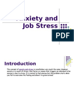 Anxiety and Job Stress