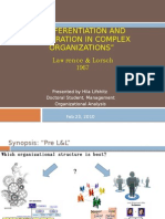 """""""differentiation and Integration in Complex Organizations"""""""