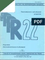Tabla de refrigerante R-22