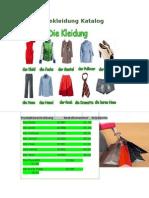 Bekleidung Katalog