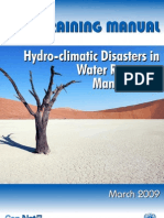 Manual for Hydro-Climatic Disasters in Water Resources Management