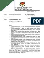 055 Surat Pengawasan Pelaporan Dana Kampanye Pemilu Anggota DPR,DPD Dan DPRD