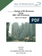 Seismic Design of RC Structures Using UBC_ACI Provisions