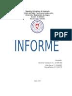 Informe Sobre Sonido y Oratoria y Expresion Corporal