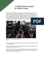 Argentina Es El Quinto País Con Menos Homicidios de America Latina