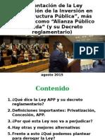 Ley de APP y su reglamentación