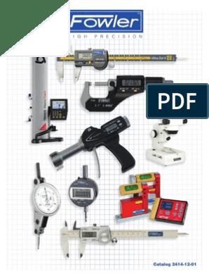 "Fowler 52-562-120 0-15-0 X-Test Horizontal Dial Test Indicator Set 1.5/""Dial"