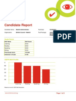 British Council Candidate Report Aptis Spain