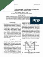 Analisis de transferencia de calor en un evaporador