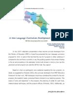 A New Language Curriculum Development in Costa Rica