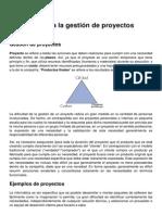 Introduccion a La Gestion de Proyectos
