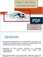 Marketing for Non-profit Organisations