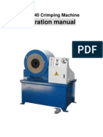 Operation Manual of Crimping Machine