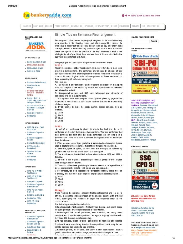 sidbi essay bankers adda