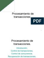 Transacciones de Base de Datos