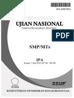 Bocoran Soal UN IPA SMP 2015 by Pak-Anang.blogspot.com