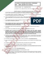 TS EDCET-B.ed Counselling Procedure 2015