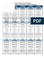 Calendario de Evaluaciones 02-2015 Ing. en Sistemas y Computación (1)