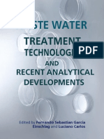 Waste Water - Treatment Technologies and Recent Analytical Developments