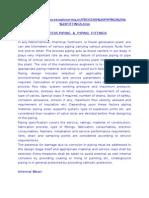 Process Piping & Piping Fittings