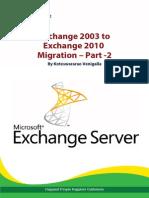 Exchange 2003 to 2010 Migration – Part -2 - Happiest Minds
