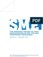 SME 4th Progress report on SMEs participation in the 7th r&D Framework Programme