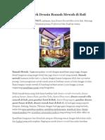 Jasa Arsitek Desain Rumah Mewah Di Bali