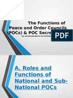 Presentation on POC and POC Secretariat Functions