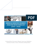 Medical Robotics to be driven by Surgical Robotics Segment and to grow at 19% CAGR till 2020!
