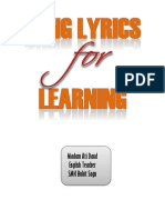 Song Lyrics for Learning