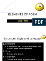 Elements of Poem - Sad I Ams