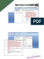 Cara Setting Format Document Baru