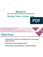 Module 2 8 the Routing Table a Closer Look