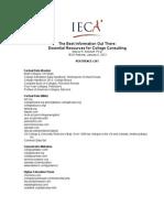 IECA Antonoff Resources List