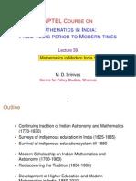 39 Modern India I (MDS)