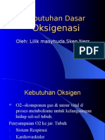 Kebutuhan Dasar Oksigenasi