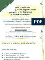 CIPAC Lecture QC Pesticides