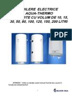 Manual Boilere Electrice Aqua-Thermo