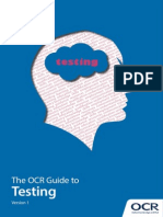 168851 the Ocr Guide to Testing
