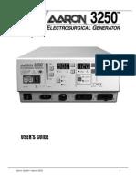 Aaron Bovie Medical 3250 User Manual